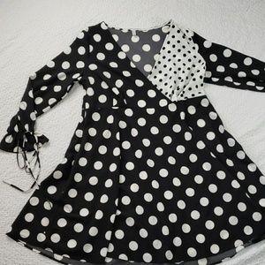 ROSE GAL plus size midi polka dot flowy dress 2x